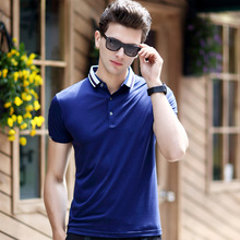 2016New Brand Men's Polo Shirt Cotton Short Sleeve Shirt Sports Jerseys Tennis Plus Size 3XL Summer Turn-down Collar Polos(China)