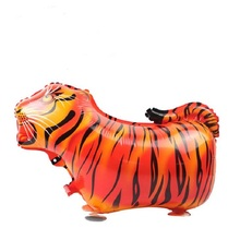 10pcs Walking Pet Balloons Tiger Walking Animal Foil Balloons Party Decoration Supplies kids Toys Globos Balony