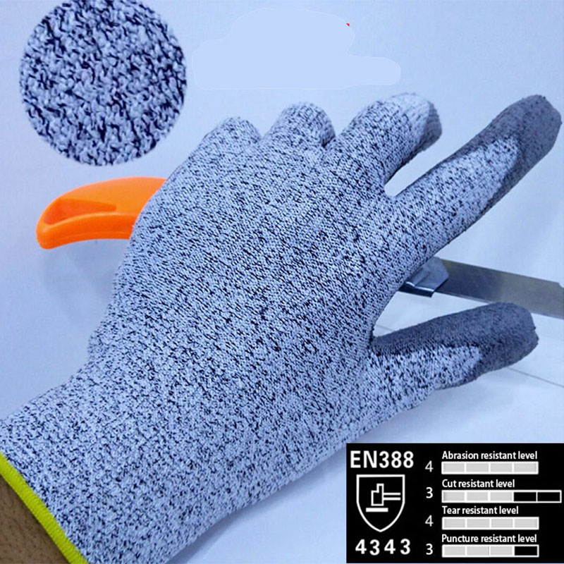 2016 Cheapest UHMWPE Anti cut gloves Cut resistance gloves with PU on palm Cut proof Safety Gloves with certificate<br><br>Aliexpress