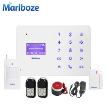 Marlboze A2 English French Russian Spanish Voice Wireless Wired Home Security GSM Alarm System LCD Display Touch Key APP Control