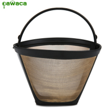 New #4 Cone Permanent Coffee Filter Washable Reusable Coffee Filter Baskets High Quality PP and Nylon Mesh Filters Grounds