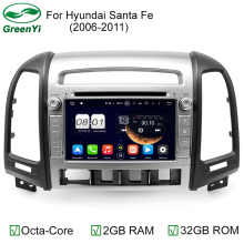 2GB RAM 1024*600 Octa Core Android 6.0.1 Fit Hyundai SANTA FE 2006 - 2010 2011 2012 Car DVD Player Navigation GPS TV 3G 4G Radio
