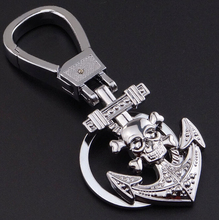 Skull anchor Key chain - Hot Thor ax and Skeleton Skull boat anchor Keychain for car key ring gift bag Keychains #17074-1