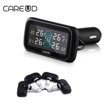 CAREUD TPMS U903 Smart Car Type Pressure Monitoring System  4PCS Internal Sensor Battery Long-Life Time Car Electronics TPMS