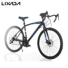 "Lixada 26"" Carbon Steel Bike 21-speed Derailleur Road Bike Bicycle Fixed Bike Rear caliper brake Blue / Pink"