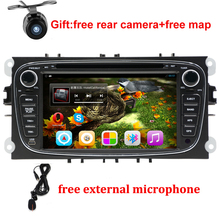 "Android 6.0 Quad core 2 Din 7"" Car DVD Player For FORD/FOCUS 2 /MONDEO/S-MAX/CONNECT 2008 2009 2010 2011 head unit Car GPS Radio"