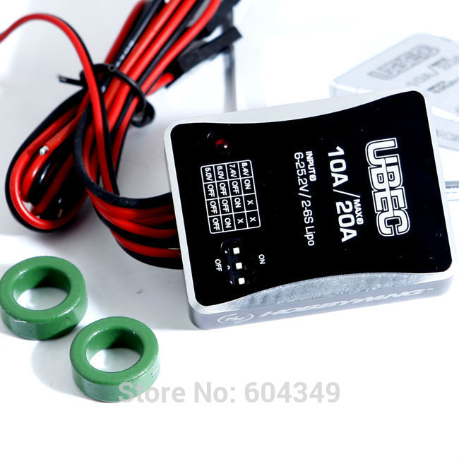 HobbyWing UBEC-10A 2-6S for RC  Electronic Speed Controller ESC with  output voltage  switches  5.0V/6.0V/7.4V/8.4V<br><br>Aliexpress