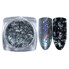 Buy 1 Box Holographic Silver Flakes 0.2g Holo Nail Glitter Sequins Bling Mirror Paillette Manicure Tips Decoration for $1.26 in AliExpress store