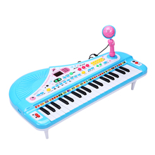 Kids 37 Keys Blue Musical Toy Piano Digital Display Music Electronic Keyboard Key Board Piano Educational Toys For Children Girl