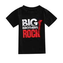 Cotton Infant Kids Baby Boys Casual Tee Top T-Shirt Black Big Rock Roll Letter Black Baby T-Shirt  Jumpsuit Outfits