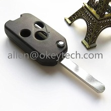 HIGH QUALITY NEW ! 3 Button Modified Flip Folding Remote Key Shell For Honda ACCORD CRV CIVIC ODYSSEY Pilot With Logo