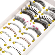 YOKPN 10 pairs Different Styles False Eyelashes Color Exaggerated Crisscross Messy Lower Lashes Dance Show Makeup Fake Eyelashes(China)