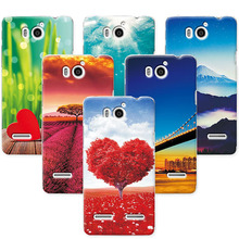 "For Coque Huawei U9508 Hard PC Back Cover Funda Capa For Huawei U9508 U8950D T8950D Ascend G600 4.5"" Scenery Rose Phone Cases"