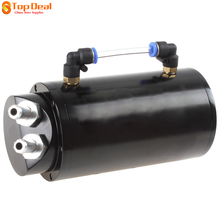 Surprise Price 750ML Round Billet Aluminum Black Racing Engine Oil Catch Reservoir Surge Metal Gasoline Fuel Tanks / Can(China)