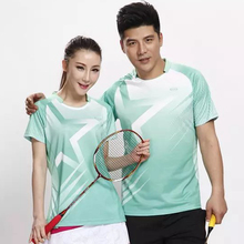 New Green Sportswear Quick Dry breathable badminton shirt Jerseys,Women/Men table tennis shirt clothes team training T Shirts