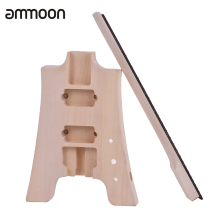 ammoon Unfinished Electric Guitar DIY Kit Basswood Body Rosewood Fingerboard Maple Neck Special Design Without Headstock(China)