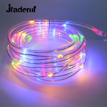 Jiaderui LED Solar Outdoor Waterprool String Lights 10m 100Leds Rope Tube LED String Solar Powered Garden Outdoor Decorate Lamp(China)
