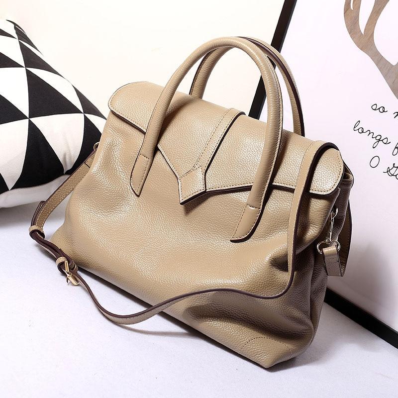 Women Casual Tote Vintage Top Handle Bag Ladies Genuine Leather Handbag Shoulder Messenger Large Bag 2016 Winter Purse<br><br>Aliexpress