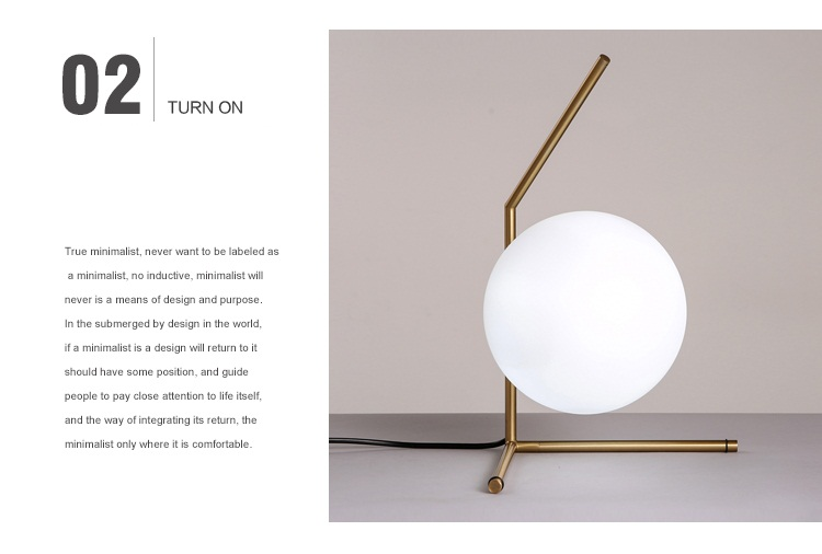 Modern LED Table Lamp Nordic Design Glass Ball Bedside Table Lamps For Bedroom 7