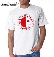 Antidazzle men Slavia Praha T Shirts Milan Skoda Muris Mesanovic printing Short Sleeve Anciana Fans Club Cotton tshirt Tops