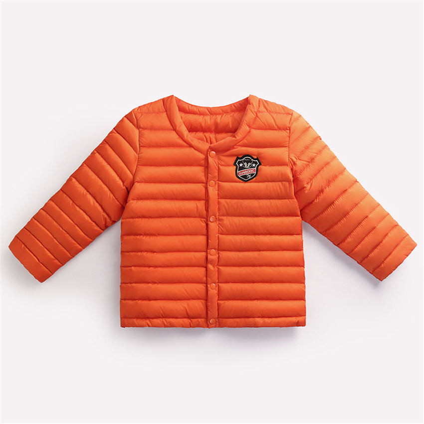 2017 New Quality thick warm boys and girls new stripes orange color coat cotton-padded jacket for 0-4 Children winter clothОдежда и ак�е��уары<br><br><br>Aliexpress