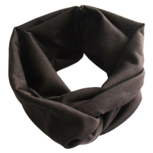 Wholesale! Chic Women Cotton Turban Twist Knot Head Wrap Headband Twisted Knotted Hair Band Coffee(China)