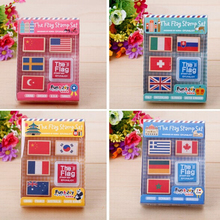 1Pack New Wooden National Flag Stamp For Kids DIY Scrapbooking Country Flag Stamp Gift Stationery H0480