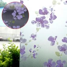 60X200cm Window PVC Frosted Glass Film Privacy Flower Window Waterproof Adhesive Privacy Glass Sticker for Home Decoration(China)