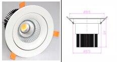 AC100-240V 40W  Recessed led COB downlight bulbs Cree COB downlight<br>