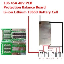 1PC 13S 45A 48V Li-ion Lithium 18650 Battery Cell BMS PCB Protection Balance Board(China)