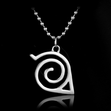 2017 HOT High Quality Konoha Ninja Logo Naruto Leaf Village Anime Naruto Necklace Symbol men women cosplay  gift jewelry