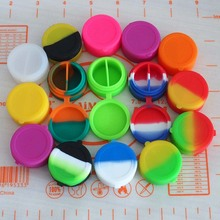1000pcs\lot wholesale 7ml silicone container hinge design round silicone spice jar for oil liquid cream electronic cigarette(China)