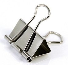 8485 High quality DELI brand Silver metal Binder clips high quality silver color stainless 19mm 25mm 32mm(China)