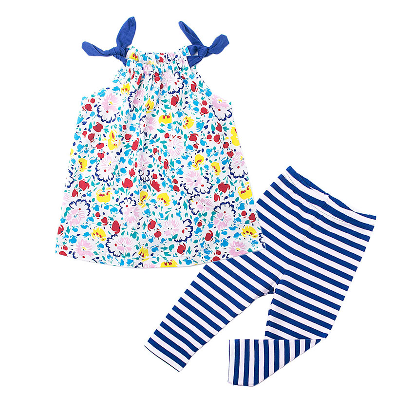 Sleeveless Girls Clothing Sets for Baby Cotton Kids Children Baby Clothing Girls Infant Baby Toddler Clothes Suit 18M-6T<br>