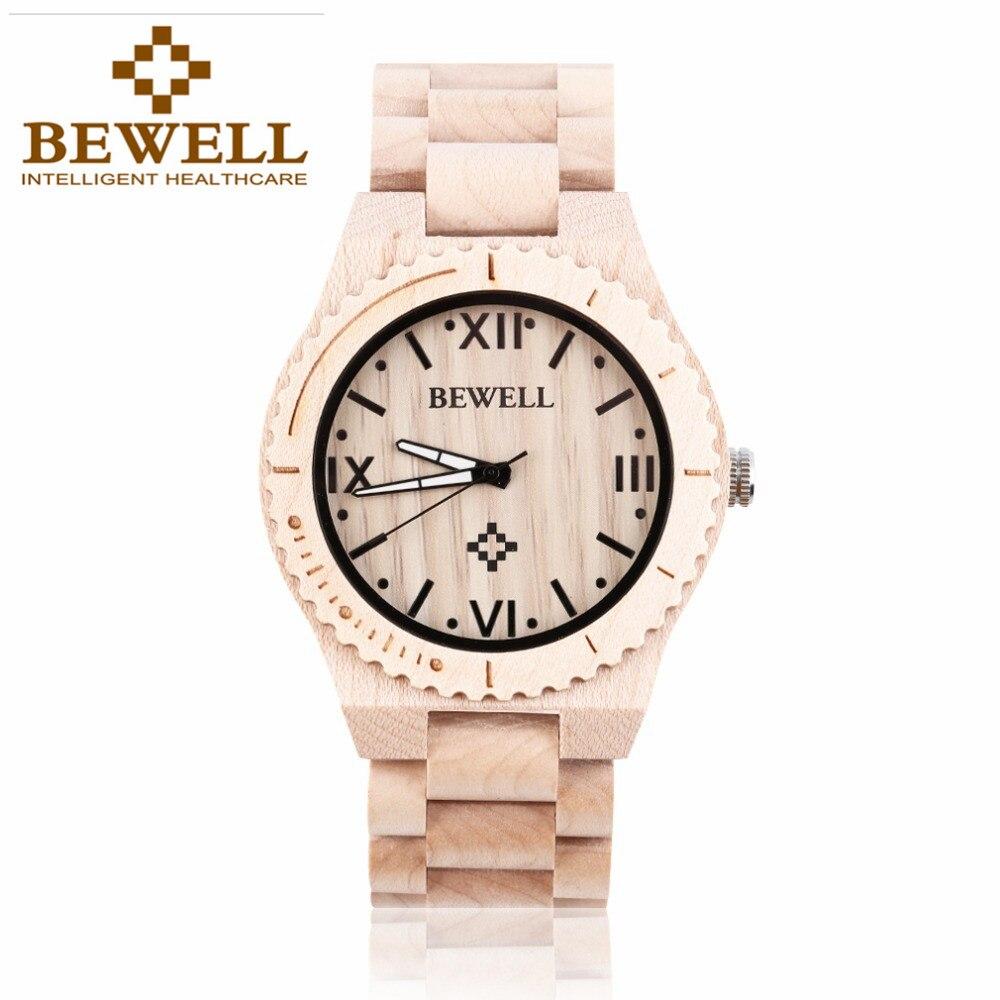 JYL hot sell men dress watch bewell men wooden quartz watch with calendar display bangle natural wood watches relogio feminino<br>