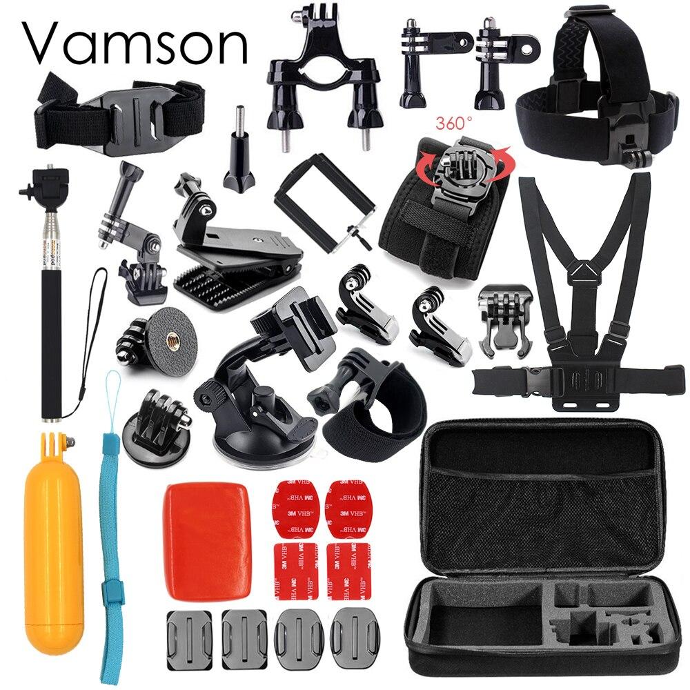 Vamson for Gopro Hero 5 Accessories Set For Gopro Hero 5 black hero 6 4 3+ session for xiaomi for SJCAM Accessories VS79<br>