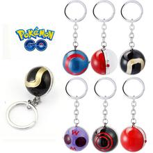 [Pokemon Go] 3D Poke Ball Toy Keychain Pocket Monster Ball Model Hot Game Anime Collection Key Ring Player Cool Gift Unisex New