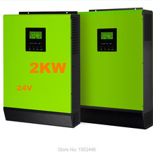 Solar Inverter 2000W Grid Tie Inverter 24V to 220V 80A MPPT Hybrid Solar Inverter Pure Sine Wave Inverter 60A Battery Charger