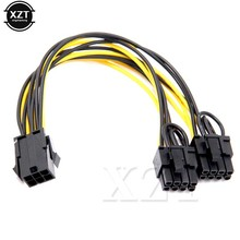 10pcs/lot PCI-e GPU VGA Splitter Power Cable 6-pin PCI Express to 2 x PCIe 8 (6+2) pin Motherboard Graphics Video Card(China)