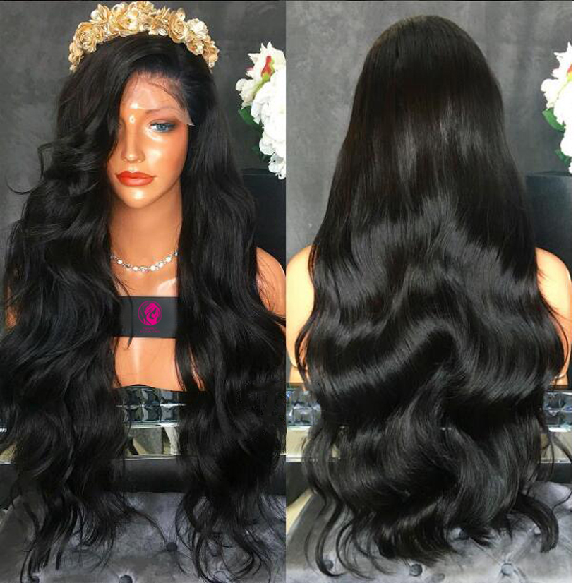 Top 9A Grade Best Full density Virgin BrazilianThick Human Hair Wig Full Lace Wig Cheap Human Hair Lace Front Wig Glueless Wig<br><br>Aliexpress