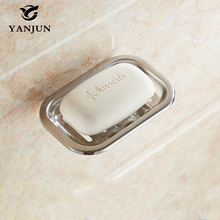 Yanjun Stainless steel wall mounted soap dishes soap holder for Bathrooms YJ-7600(China)