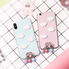 For infocus M560 JiaYu S3 Bluboo Maya Max Stereo 3D School Bus Cloud Cute Mobile Phone Case Funda Cover Bag Cellphone Housing(China)