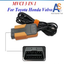 2017 New MVCI 3 IN 1 Universal OBDII Diagnostic Tool OBD2 USB Adapter With Multi-Languages  for TIS/HDS/VOLVO Vida Dice