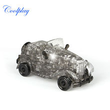 54pcs CP9061 DIY Funny Classic Cars 3D Crystal Puzzles assembled model birthday new year gift children play set toys for kids