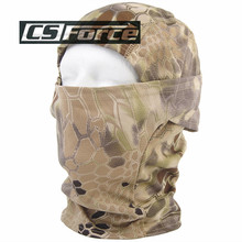 CS Force Breathable Chiefs Rattlesnake Camo Mask Paintball Full Face Mask Motorcycle Cycling Hunting CS Balaclava Helmets