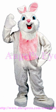 New Easter Smart Rabbit Bunny Mascot Costume Factory Direct Custom Happy White Bugs Bunny Mascotte Fancy Dress for EasterSW1473
