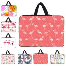 "Ins 2019 Flamingo Laptop Bag 15.6 17 12"" Notebook Chromebook Case Macbook Chuwi Xiaomi LapBook 15.6 14 13.3 Tablet 10.1 Bags"