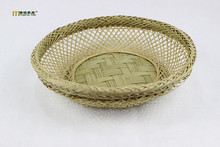 1PC Handmade bamboo tea basket semi-circular fashion health fruit plate compote Home Furnishing production activities LC 121