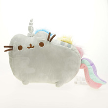 15cm Kawaii Pusheen Cat Rainbow Gray Plush Toys Soft Stuffed Doll Animals Holiday Gift Birthday Gift For Kids