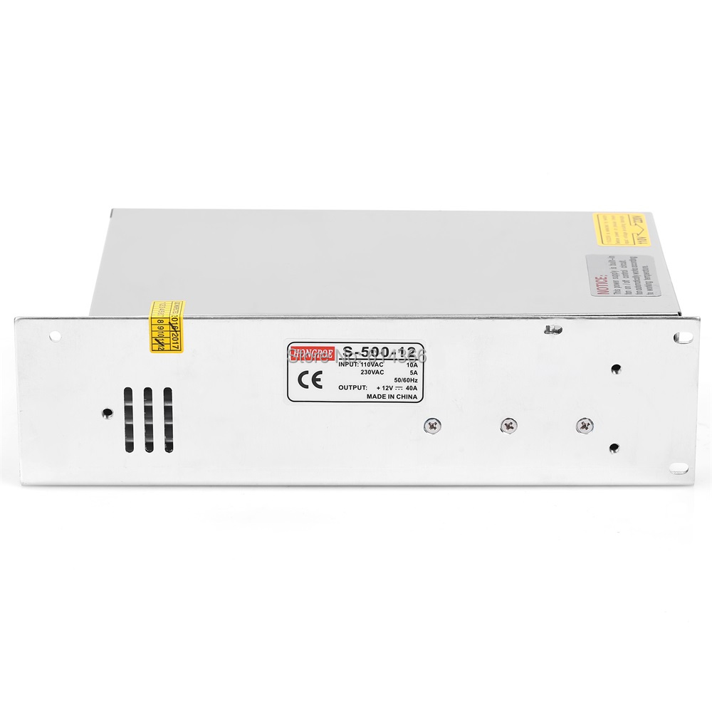 New Arrival 12V 40A 500W Switching Power Supply Driver for LED Strip AC 110V Input to DC 12V<br>